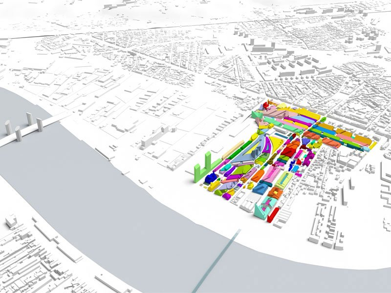 MVRDV presents Bastide Niel, Bordeaux, 375.000m2 echoing the historic city centre