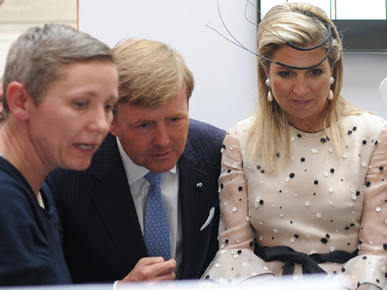 King Willem-Alexander and queen Maxima inspect Baltyk Project in Poznan