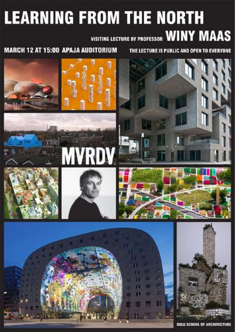 Winy Maas to lecture at the University of Oulu, Finland on March 12th