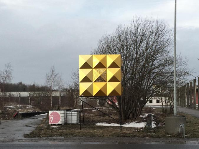 Facade test on site for Roskilde Rockmagneten