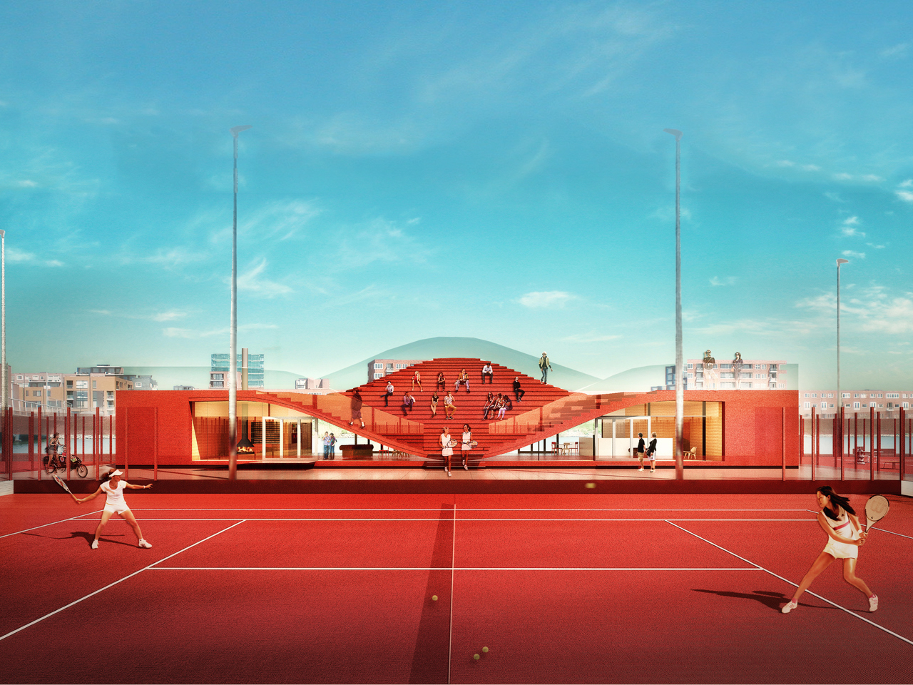 Building Permit for The Couch, A Club House for Amsterdam's Tennisclub IJburg