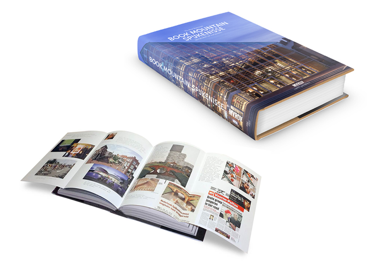 MVRDV's new publication 'Book Mountain Spijkenisse - Biography of a Building' is released today
