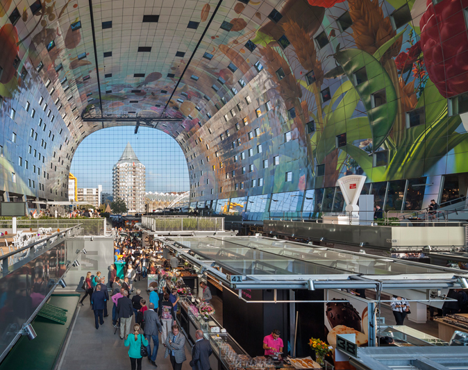 Markthal Rotterdam opens today: A mix of housing and market