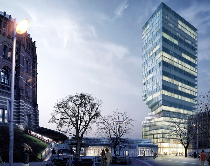 MVRDV wins tower competition in Vienna, Austria: Turm mit Taille