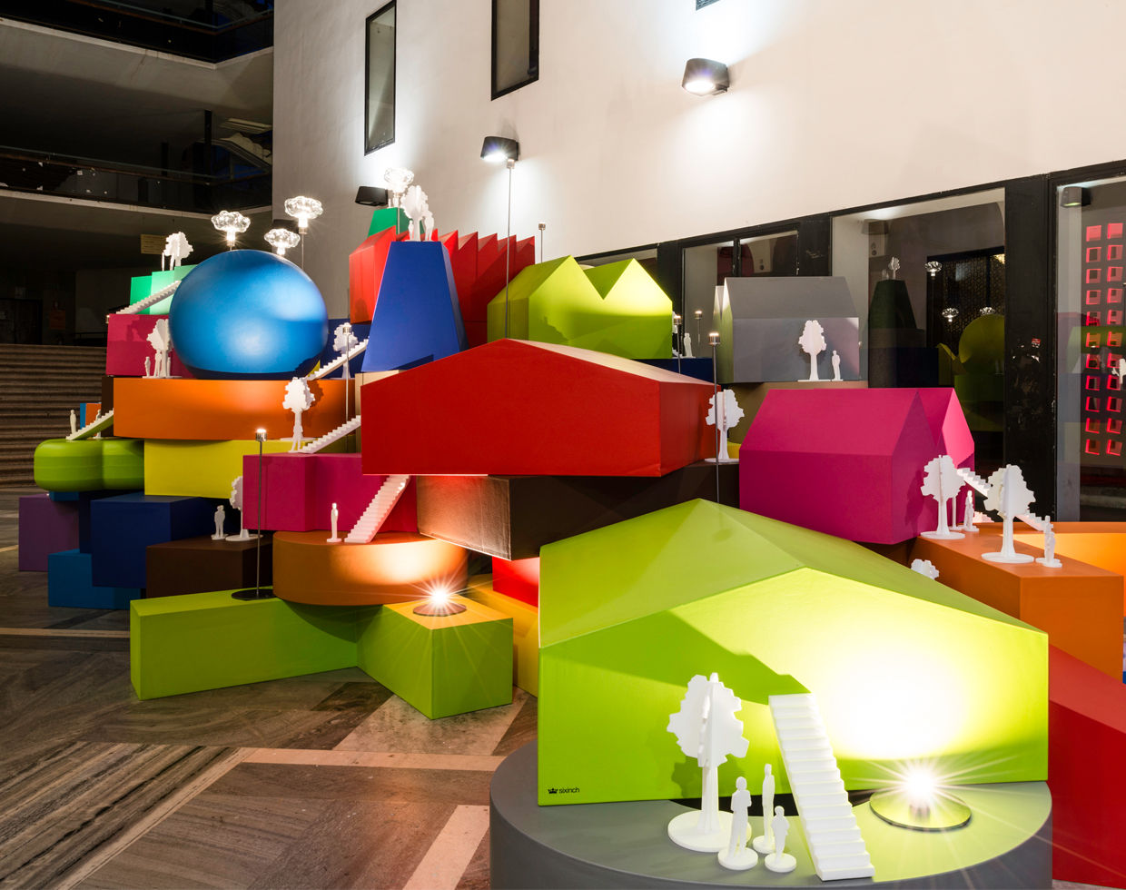 Vertical Village Sculpture at the Salone 2014, Milan