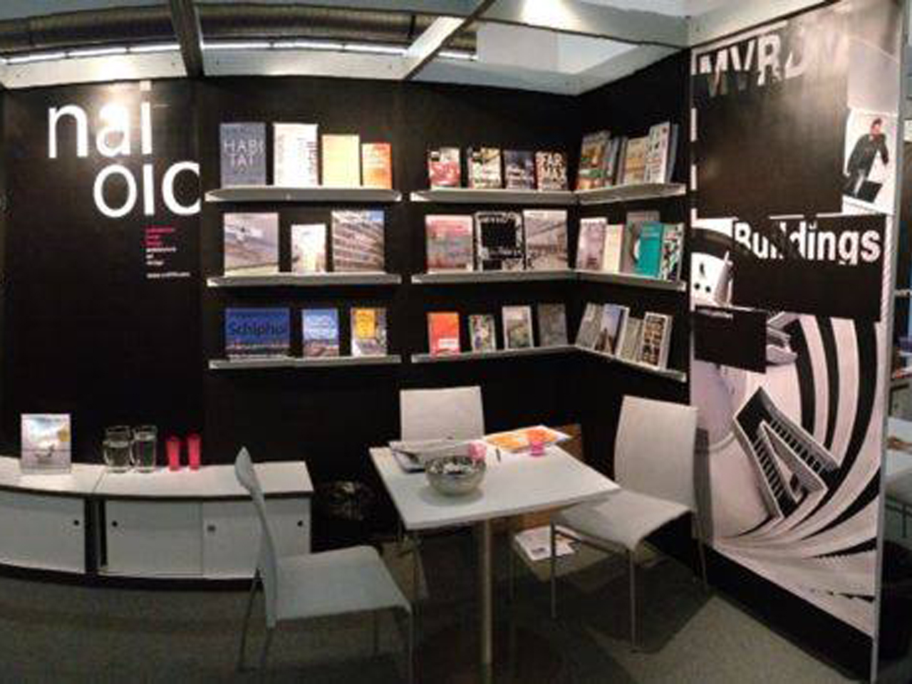 """MVRDV Buildings"" dominates the stand of NAi/010 Publishers at the Frankfurt Book Fair"