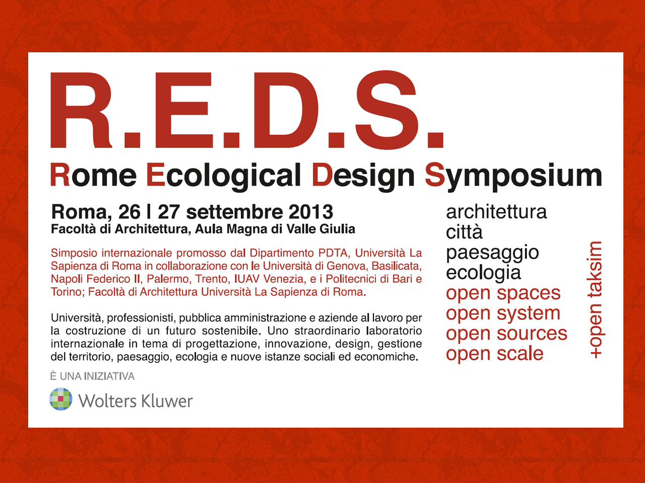 Lecture: Winy Maas in Rome 'Open Systems'
