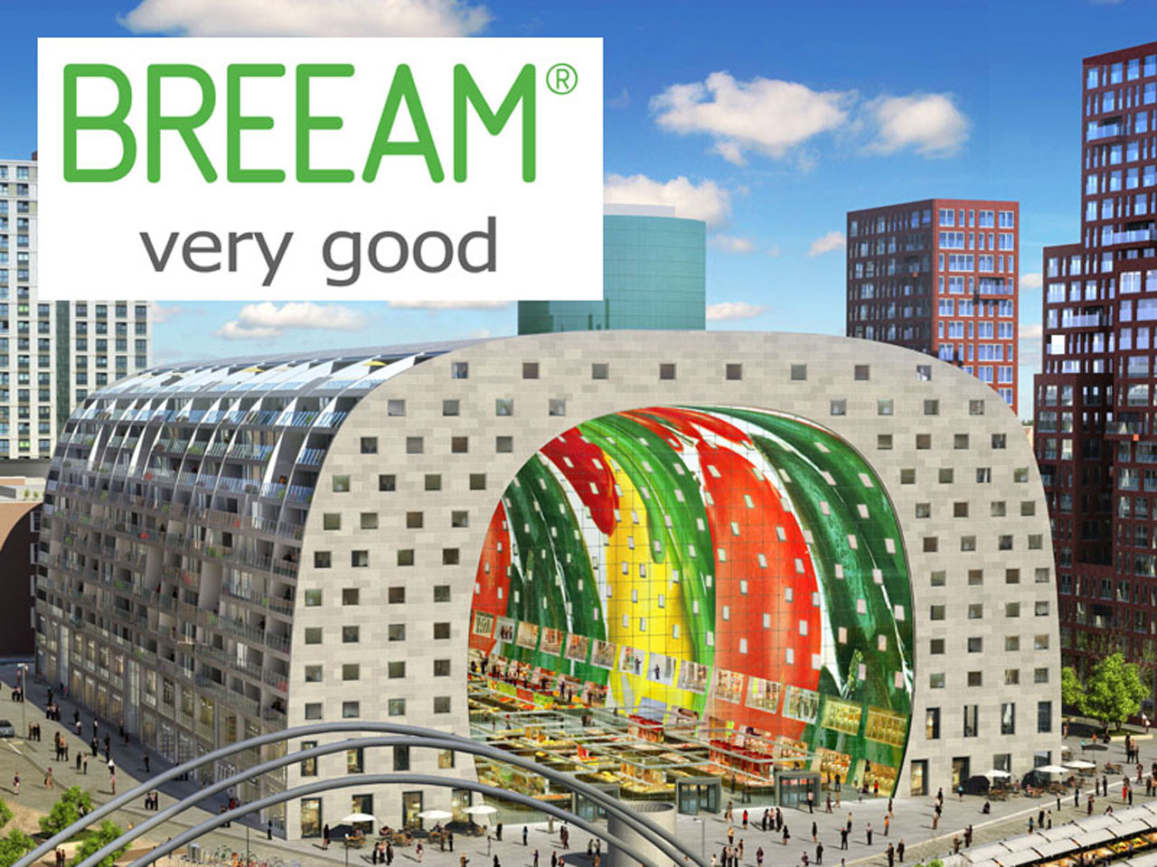 MVRDV's Market Hall Receives BREEAM 'Very Good' sustainability Rating