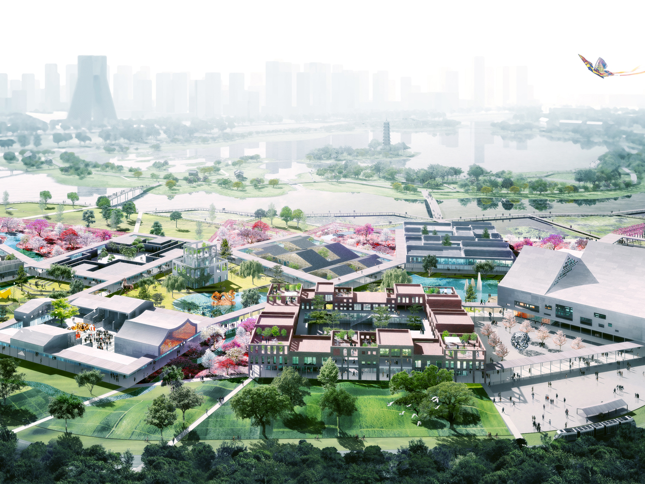 MVRDV in the final round of the competition 'One Center One Garden' for Guangzhou Cultural Center