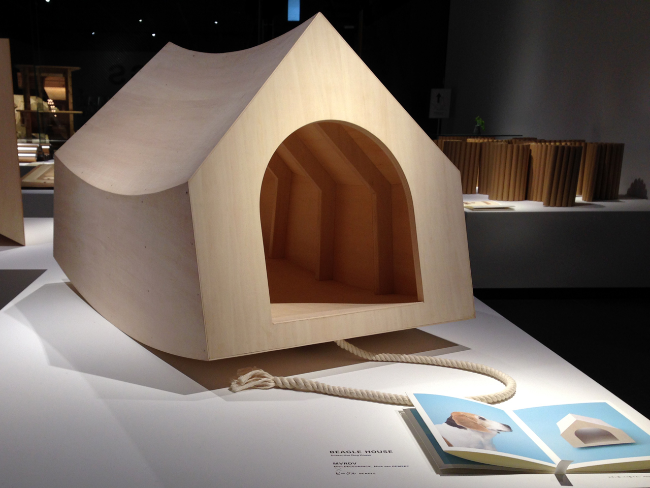 MVRDV's BEAGLE HOUSE on show at Architecture for Dogs exhibition at Tokyo's TOTO gallery MA