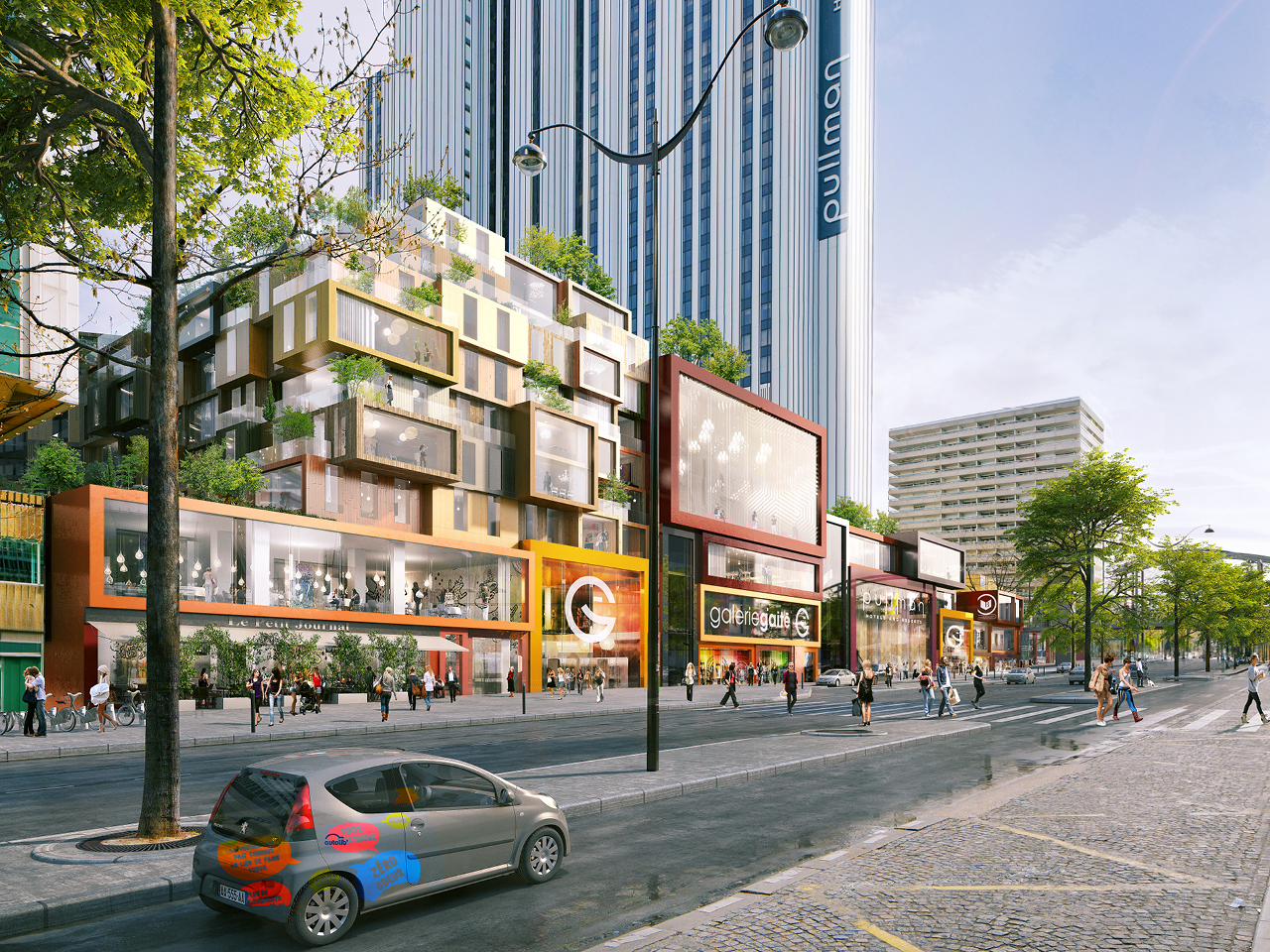 City of Paris approves MVRDV's restructuring of 1970s superblock in Montparnasse