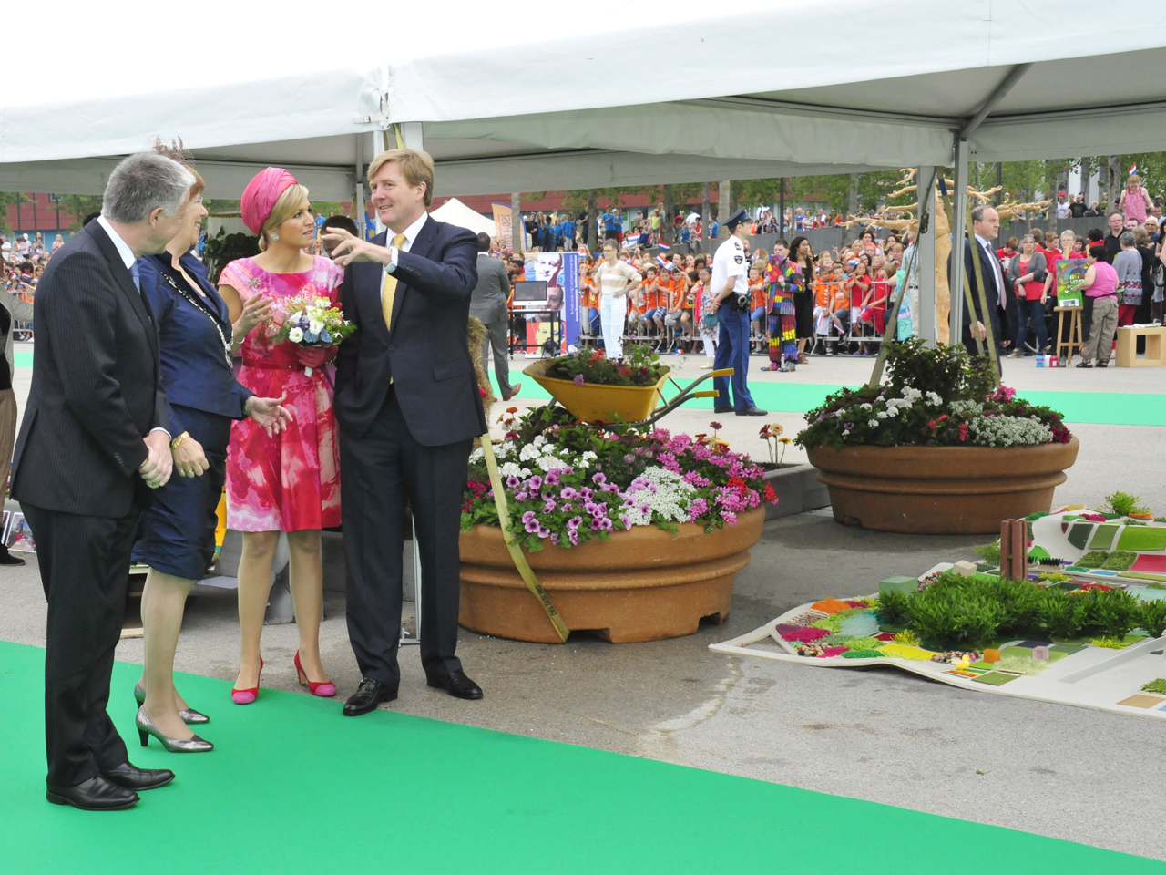King Willem Alexander and Queen Maxima visit Almere FLORIADE