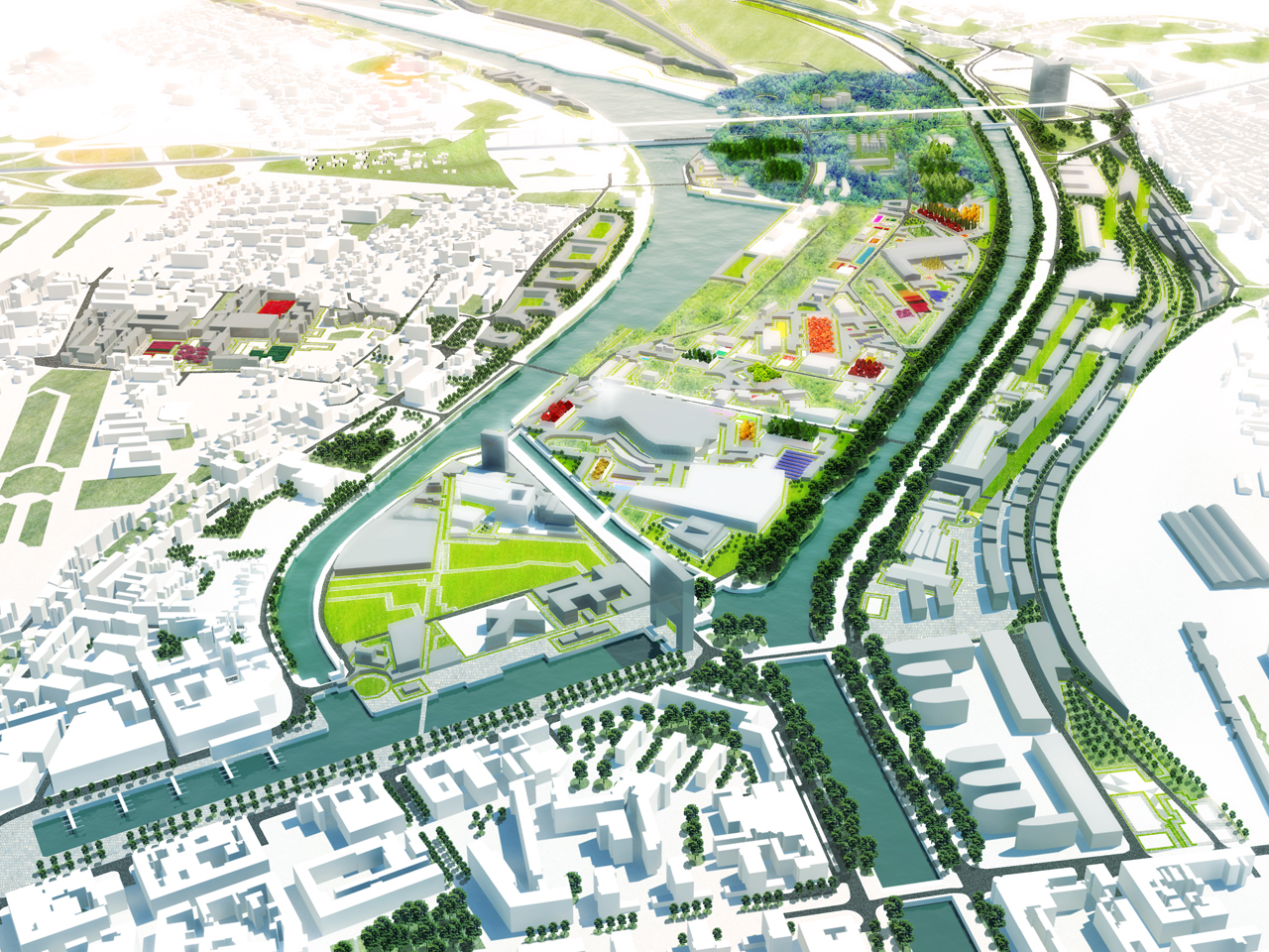MVRDV wins 600 ha port redevelopment masterplan in Caen