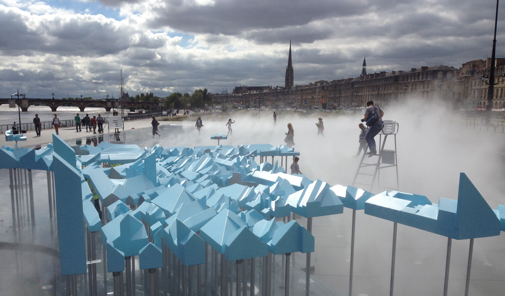 bastide niel presented on world famous mirroir d'eau at bordeaux' riverfront