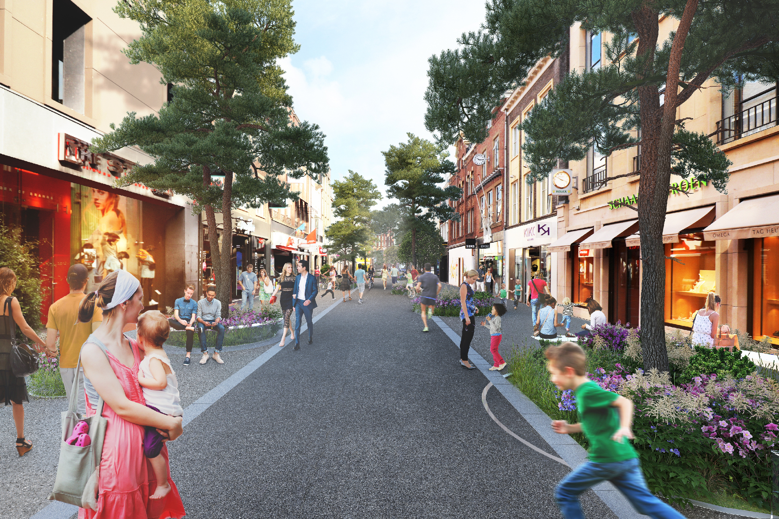 Municipality and MVRDV test pavement for Eindhoven city center