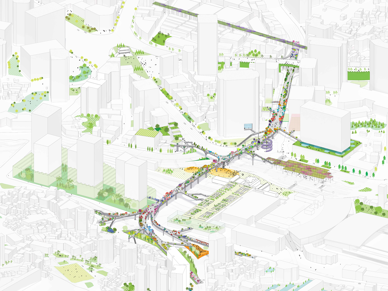 MVRDV wins competition to transform abandoned highway section into Seoul Skygarden