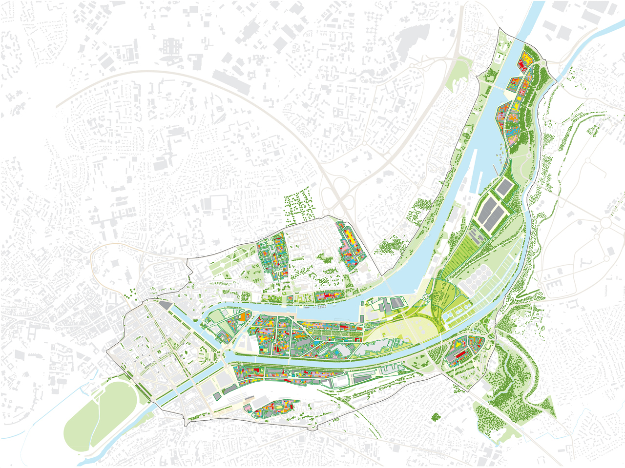 MVRDV Presents La Grande Mosaïque, 600 Hectare Urban Plan In Caen, Normandy