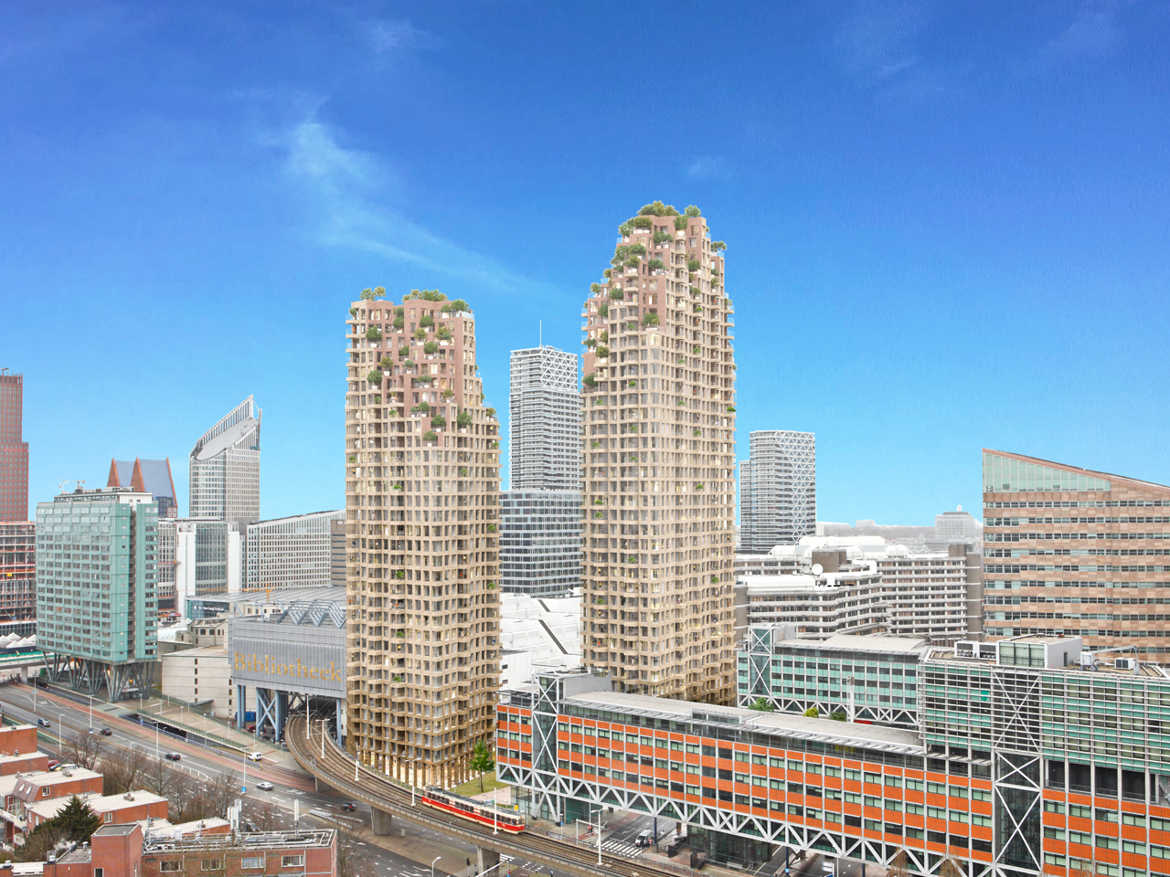 MVRDV and Provast announce Grotius Towers The Hague