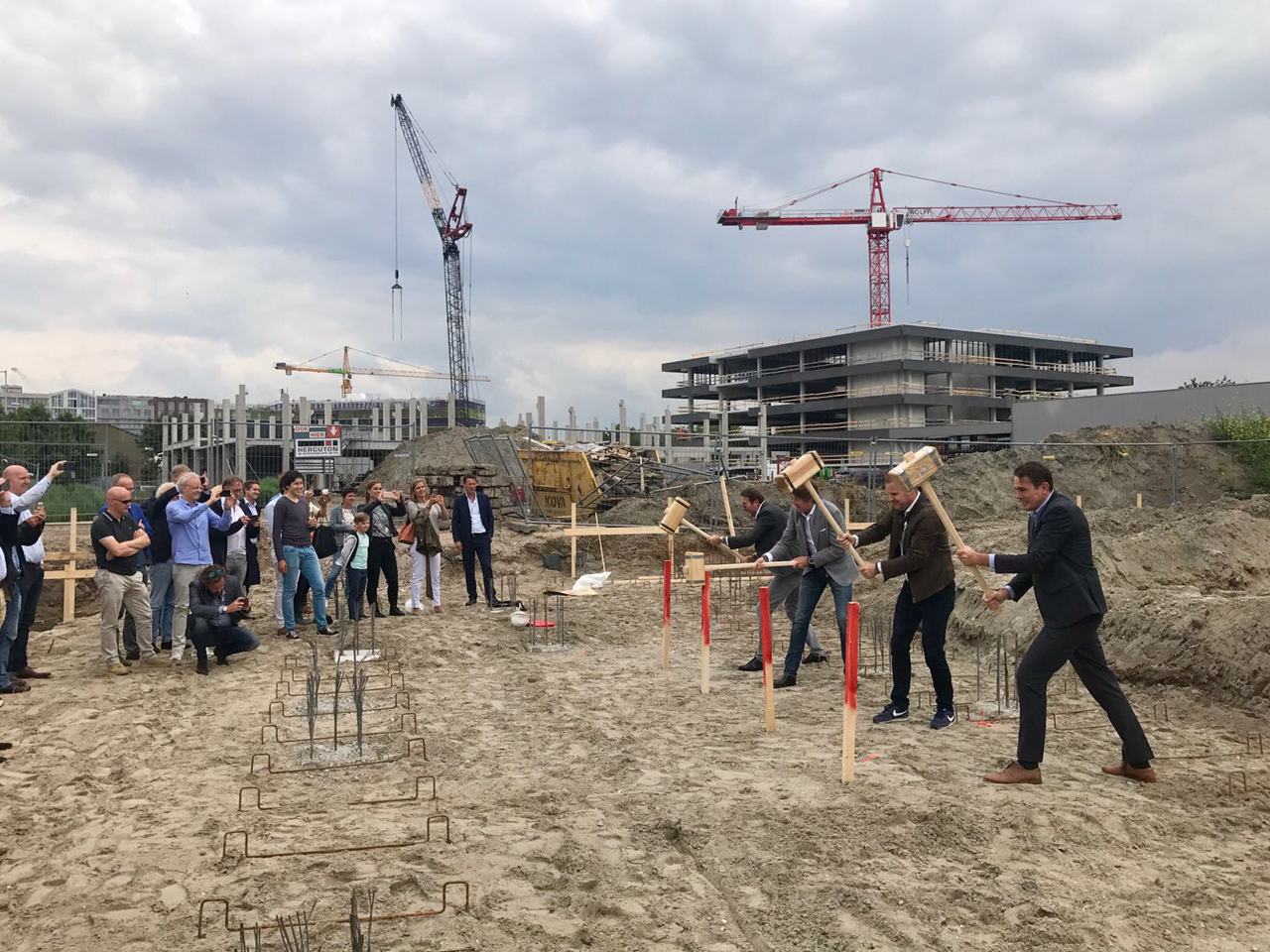 Ground breaking ceremony for Salt, a 3,700m2 office block for creatives located in Amsterdam