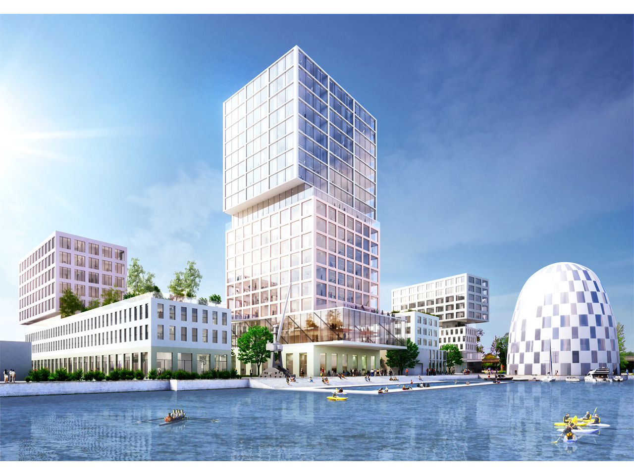 MVRDV wins the competition for design of a 70,000 m2 mixed use masterplan of Hamburg Innovation Port