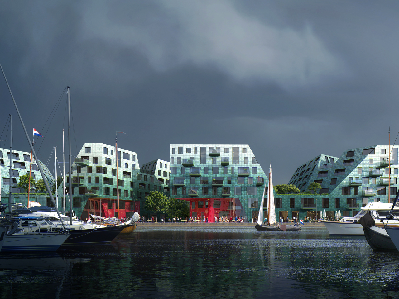 MVRDV designs for IJburg Agora on view at the Amsterdam Architecture Center exhibition