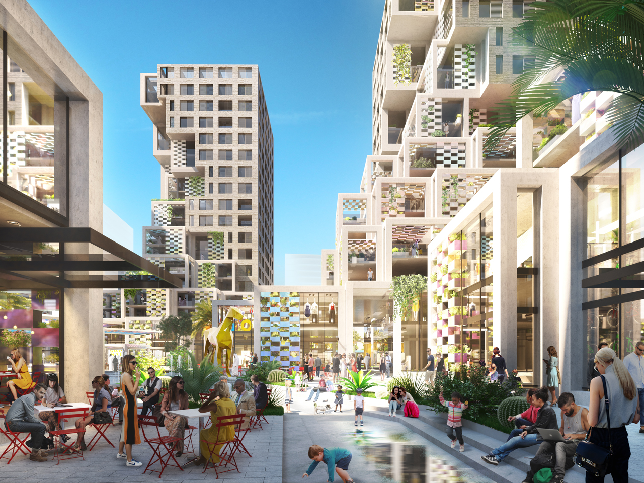 MVRDV reveals design for Pixel, a 76,000m2 mixed-use project in the United Arab Emirate