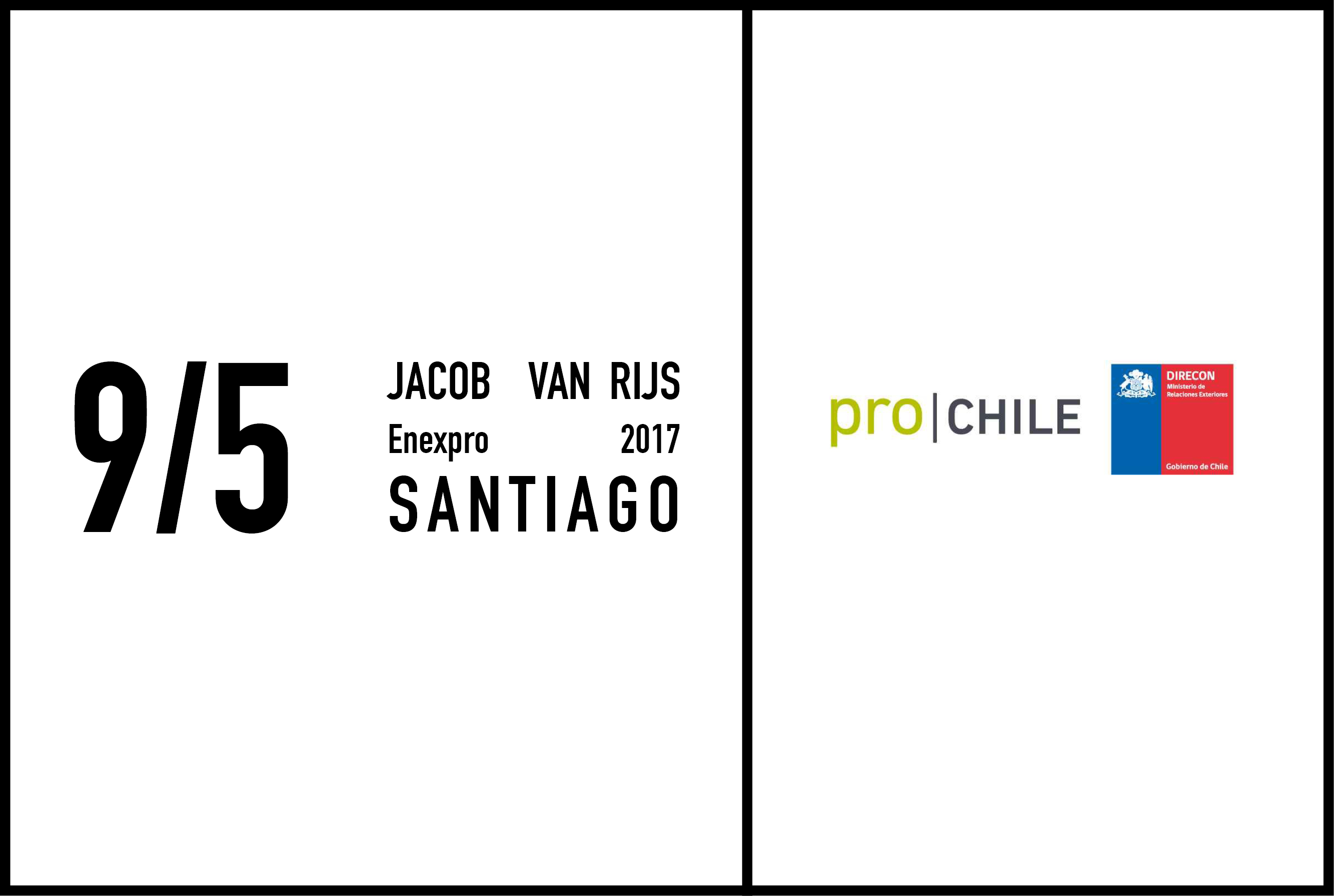 Jacob Van Rijs to give a lecture at the Universidad Diego Portales Santiago, 9 May 2017