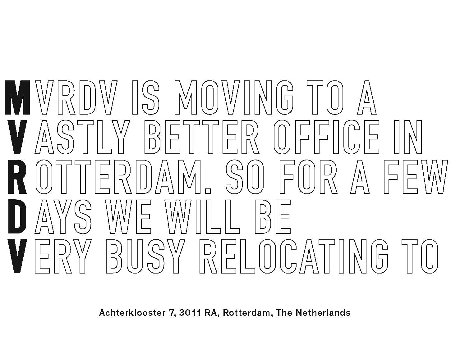MVRDV are moving offices