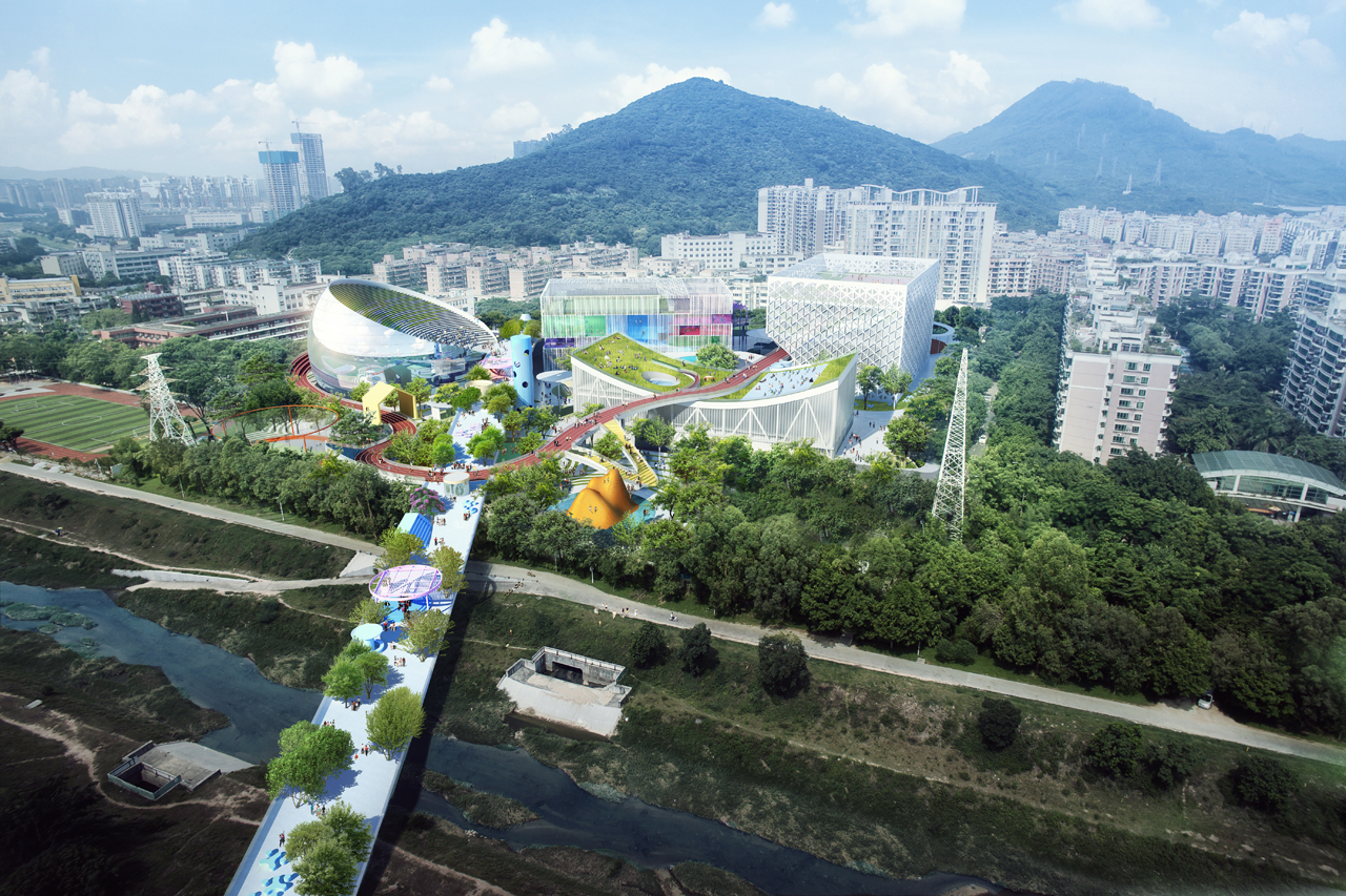 MVRDV win competition for Xili sports and cultural centre Shenzhen