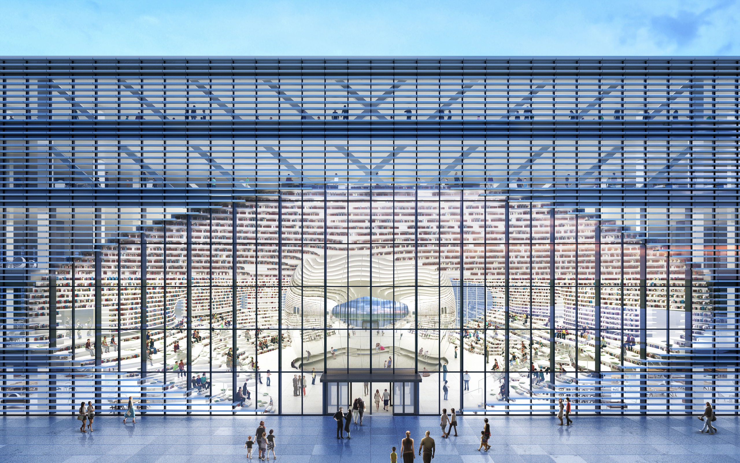MVRDV library in Tianjin tops out