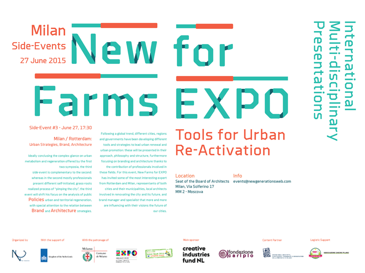 Jeroen Zuidgeest to give Workshop in Milan on 'Tools for Urban Reactivation' on June 27th