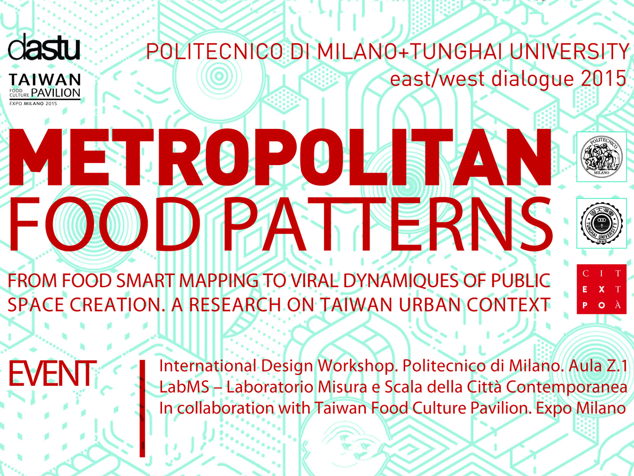 Jacob van Rijs and Hui-Hsin Liao to give workshop on 'Metropolitan Food Patterns' in Milan on July 9th
