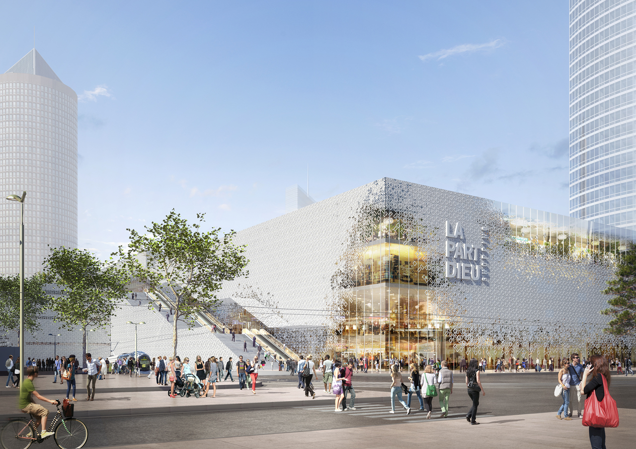 MVRDV present transformation of shopping centre Part-Dieu in Lyon, France