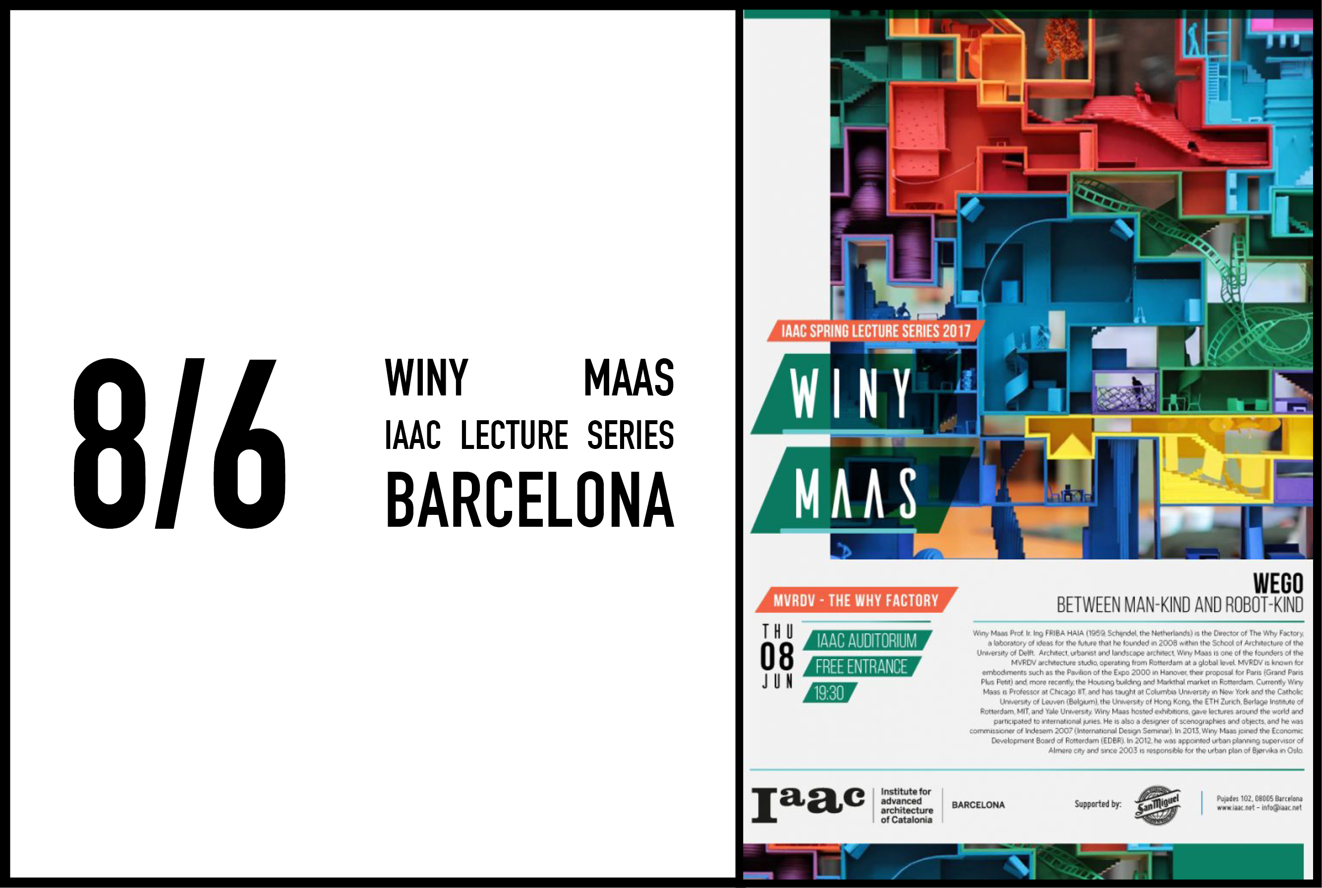 Winy Maas lecture at IAAC Barcelona, 8 June 2017