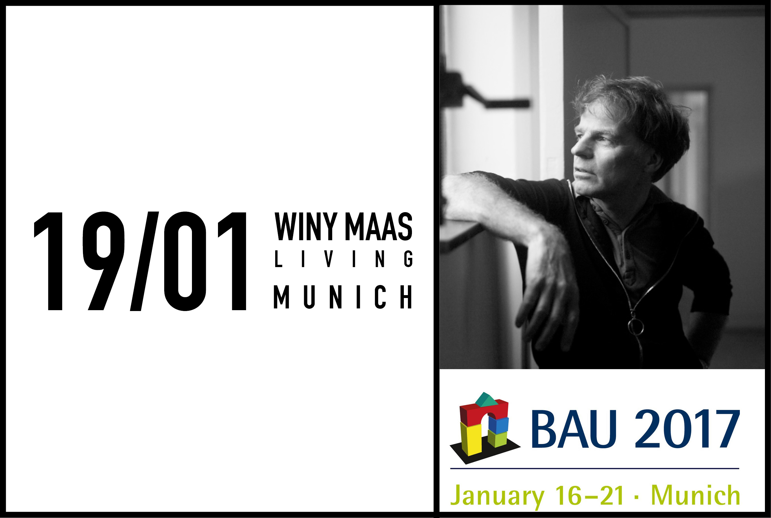 Winy Maas to give Keynote Lecture at BAU 2017 in Munich, 19 January 2017