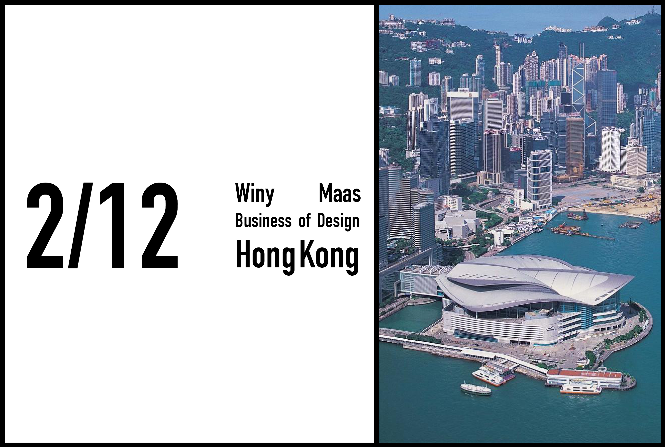 Winy Maas to give a lecture at Business of Design Week Hong Kong, 2nd December 2016