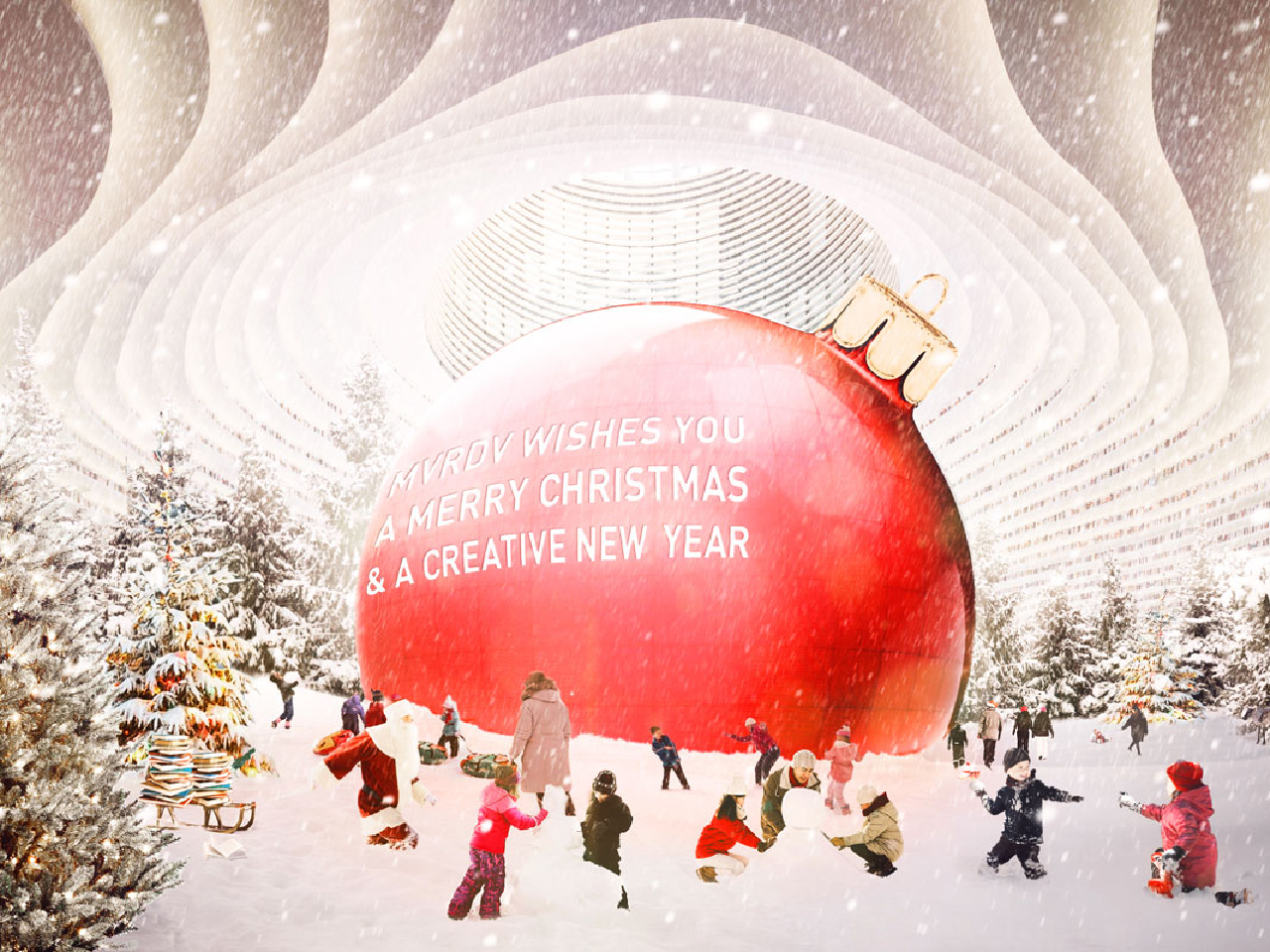 mvrdv wishes you a merry christmas and a creative new year