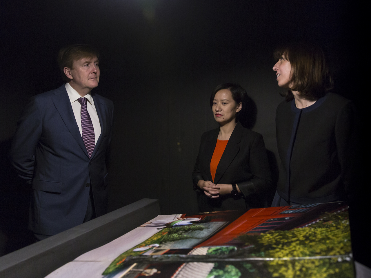 MVRDV's Marta Pozo and Wenchian Shi present Next Hutong research to His Majesty King Willem-Alexander of the Netherlands