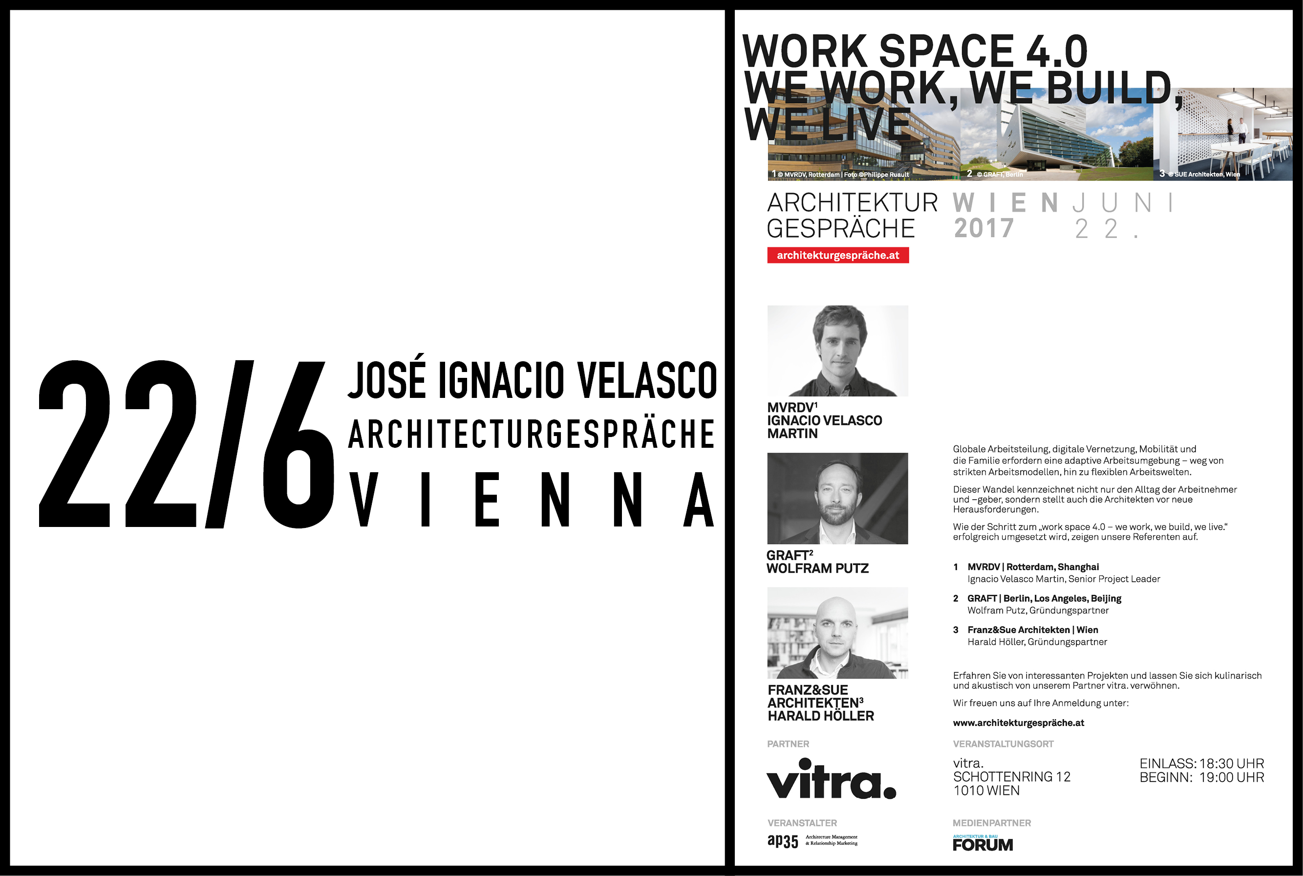 MVRDV's Jose Ignacio Velasco to speak at Architecturgespräche in Vienna, 22 June 2017