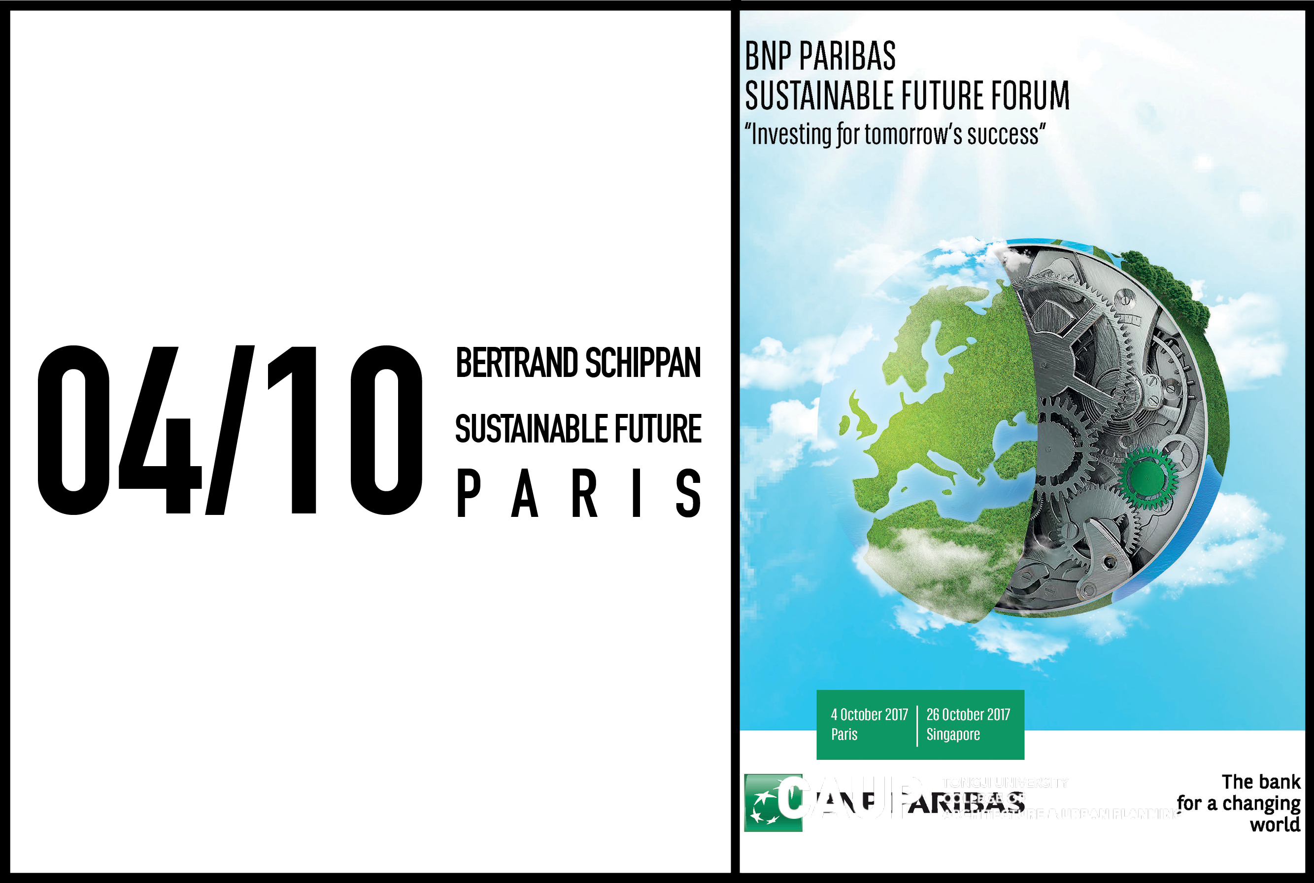 Bertrand Schippan to speak at BNP Sustainable Future Forum in Paris, 4 october 2017