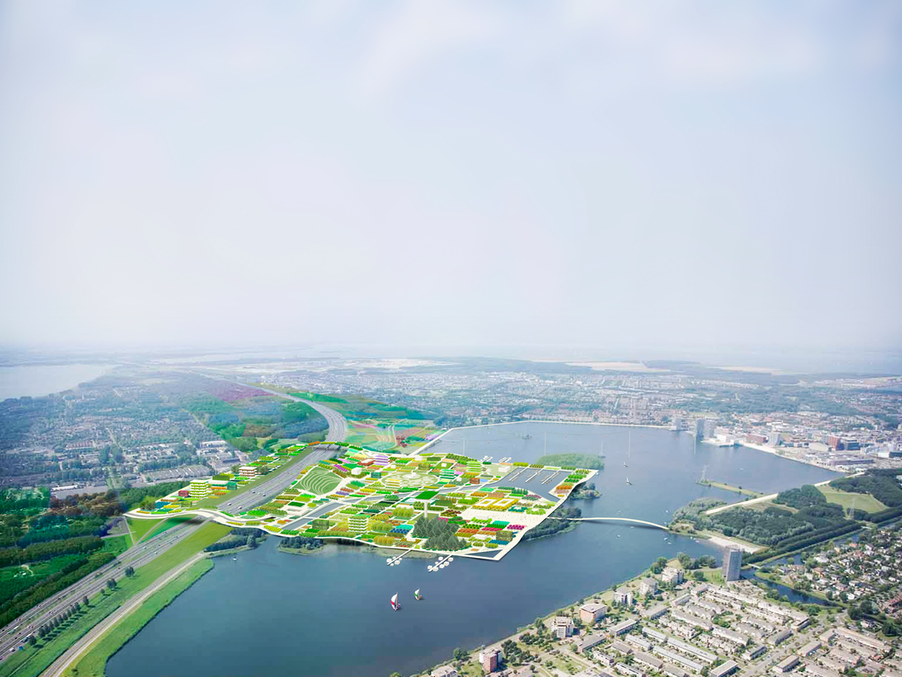 Construction begins on infrastructure for Almere Floriade 2022