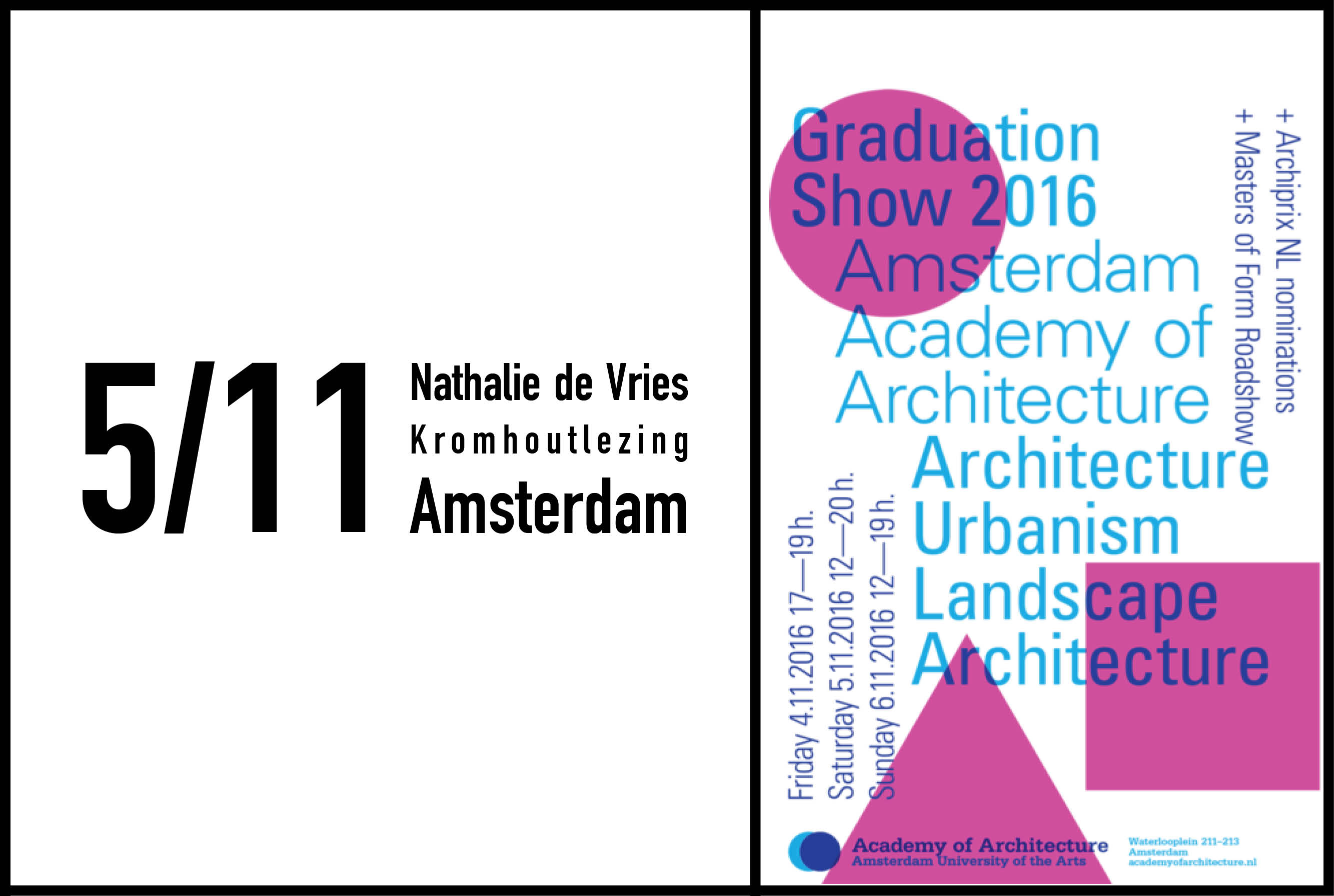 Nathalie de Vries to give Kromhout lecture at the  Academy of Architecture in Amsterdam, 5th November 2016