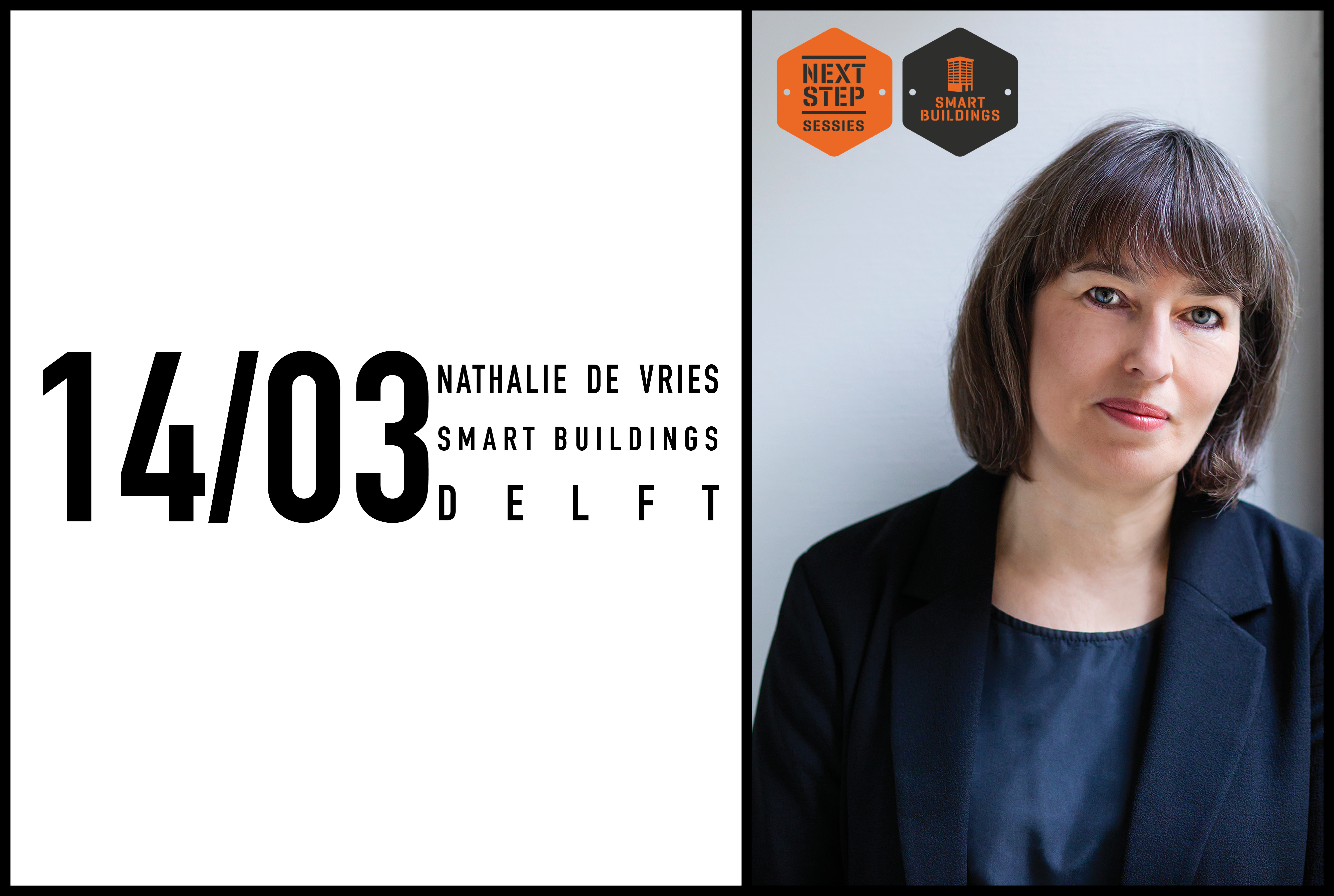Nathalie de Vries speaking at Next Step Sessions Congress, 14th of March 2018 in Delft, The Netherlands