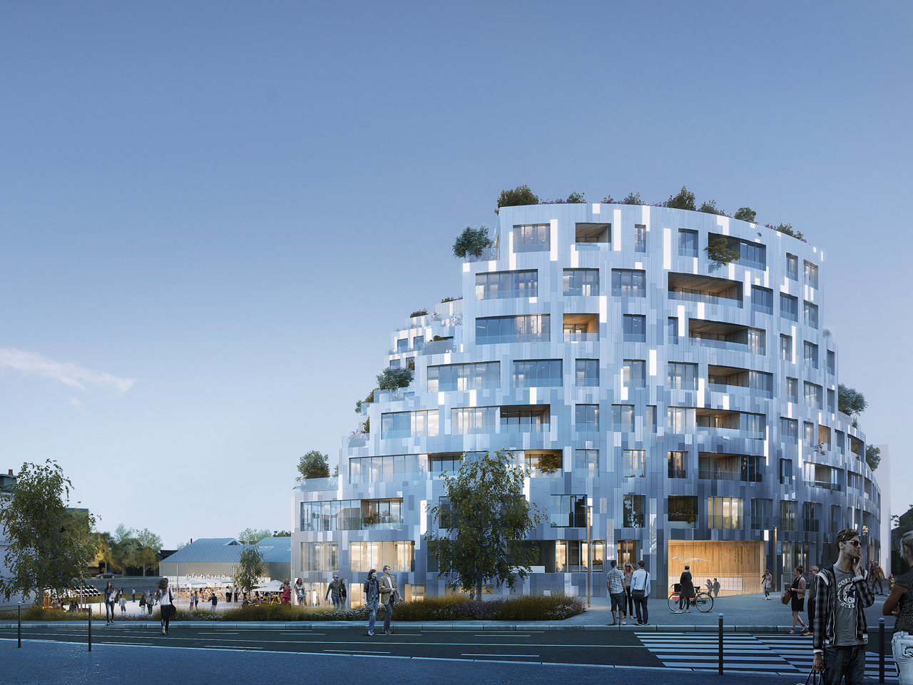 MVRDV win competition for Ilot de l'Octroi, a residential complex in Rennes