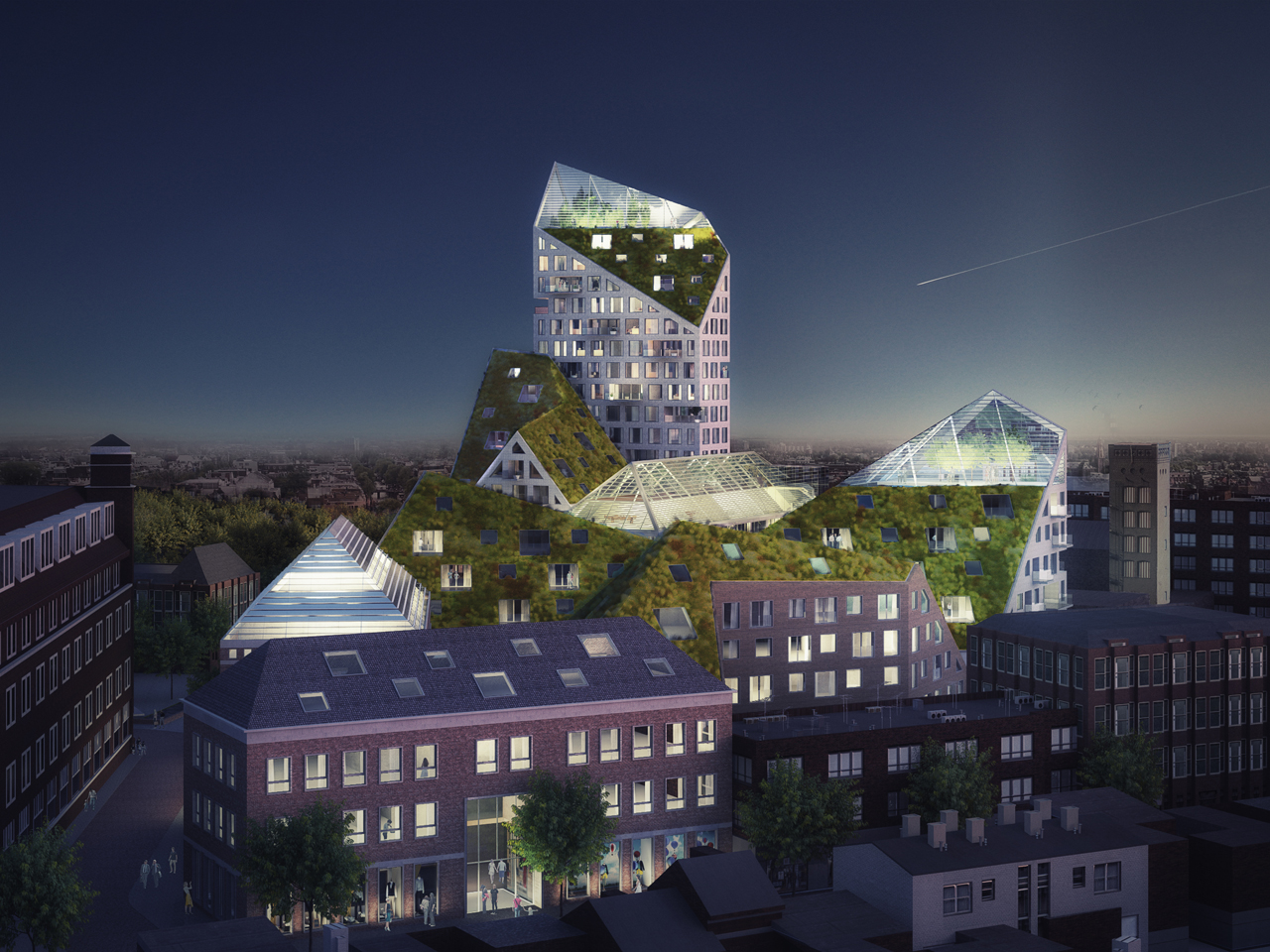 Eindhoven selects MVRDV's Nieuw Bergen, a design for sustainable residences in the city centre