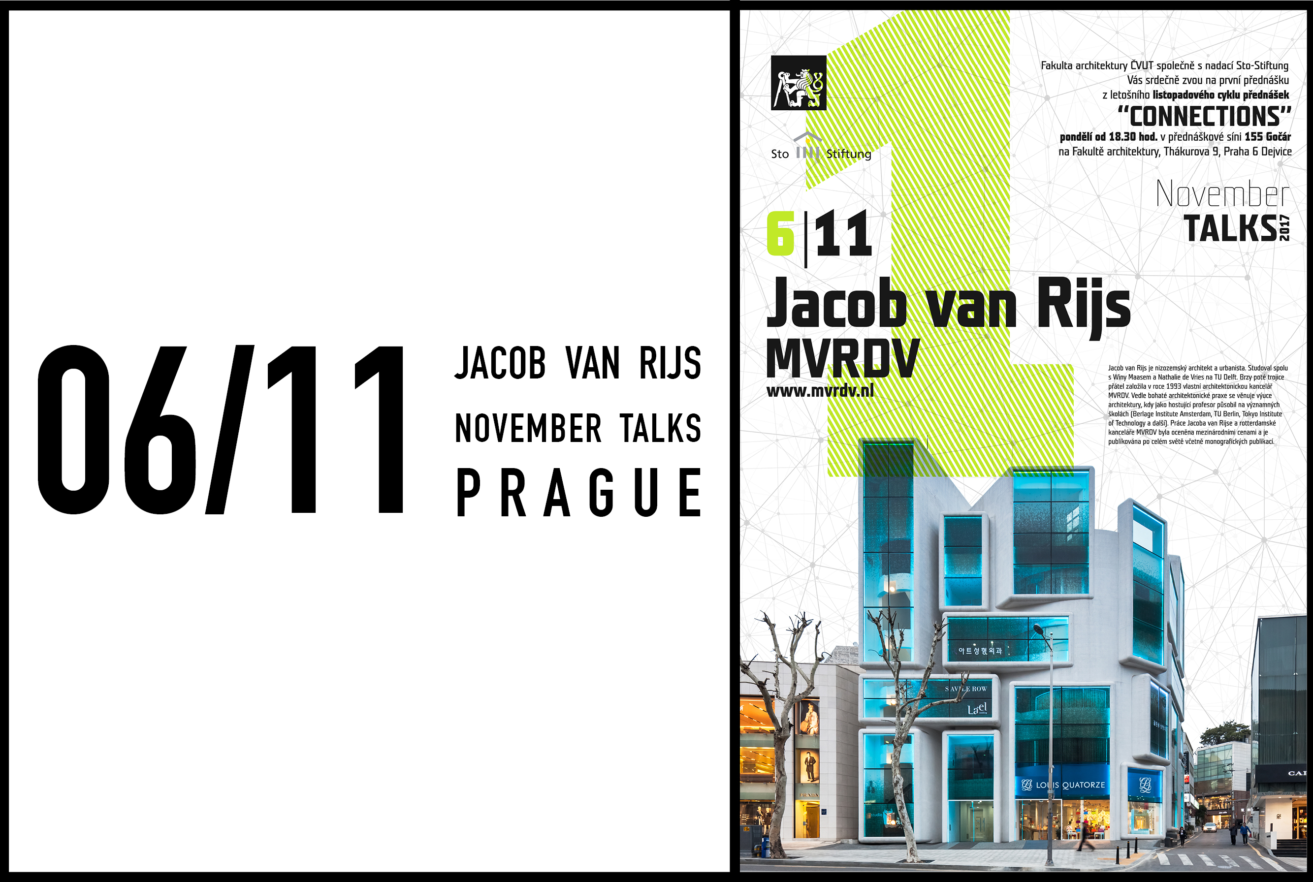Jacob van Rijs to talk at November Reihe at Prague Technical University, November 6 2017