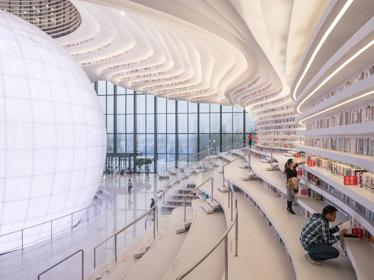 Tianjin Binhai Library named by the BBC and Architectural Digest as one of the best buildings of 2017