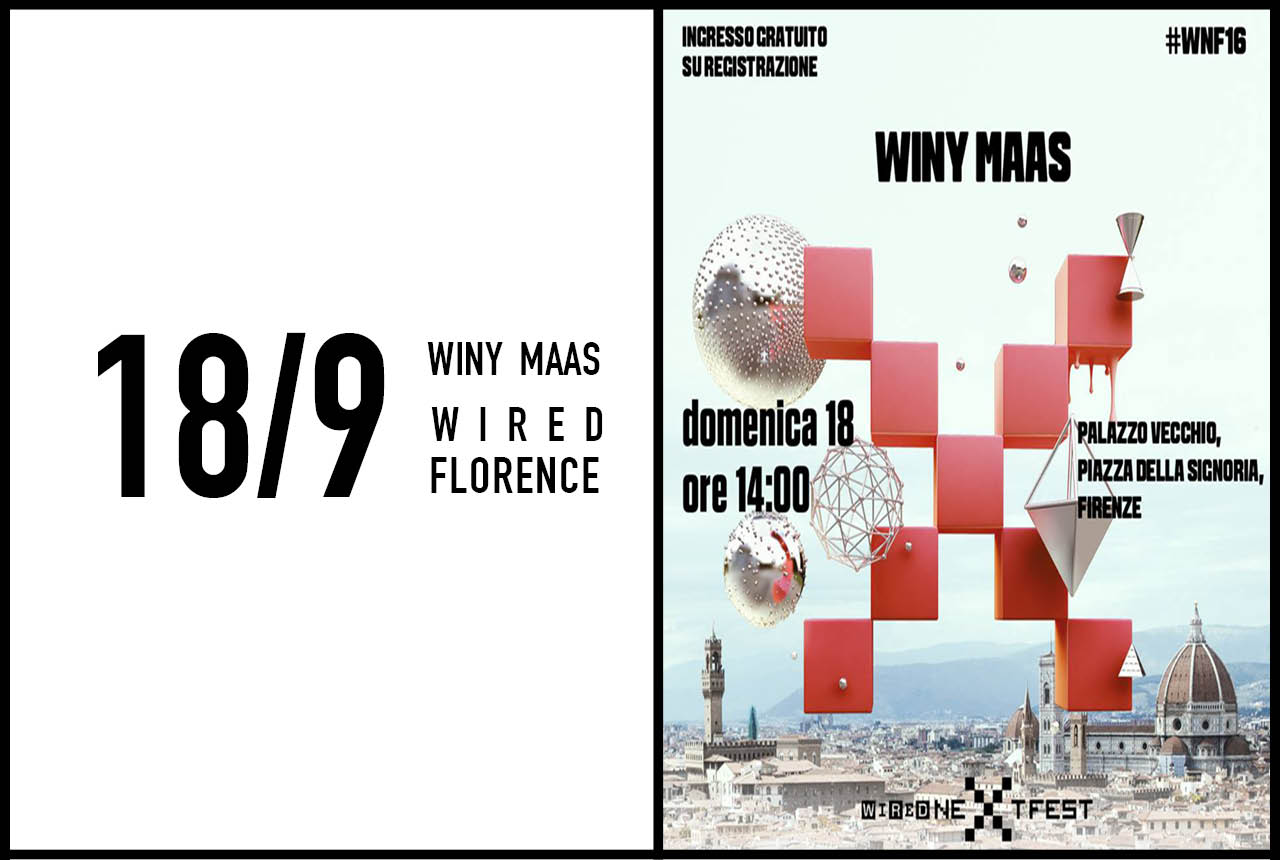 Winy Maas speaks at Wired's Next Fest, 18th September 2016